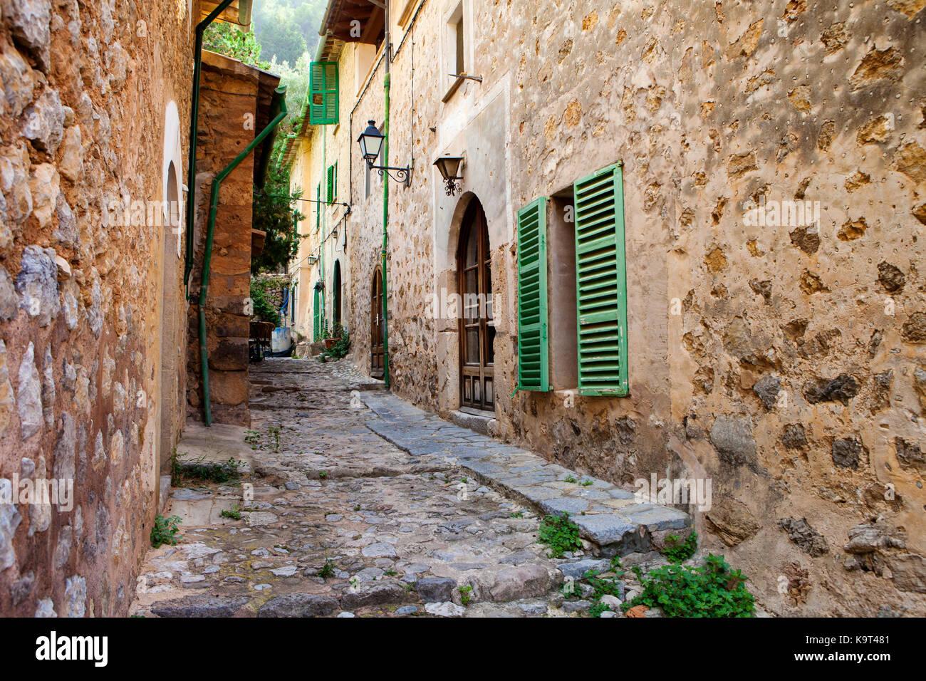 Deia village in Majorca, Spain - Stock Image