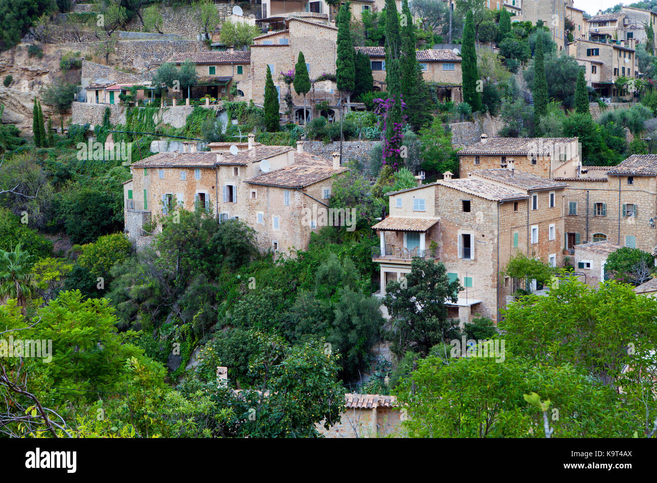 Deia village in Majorca, Spain - Stock Image