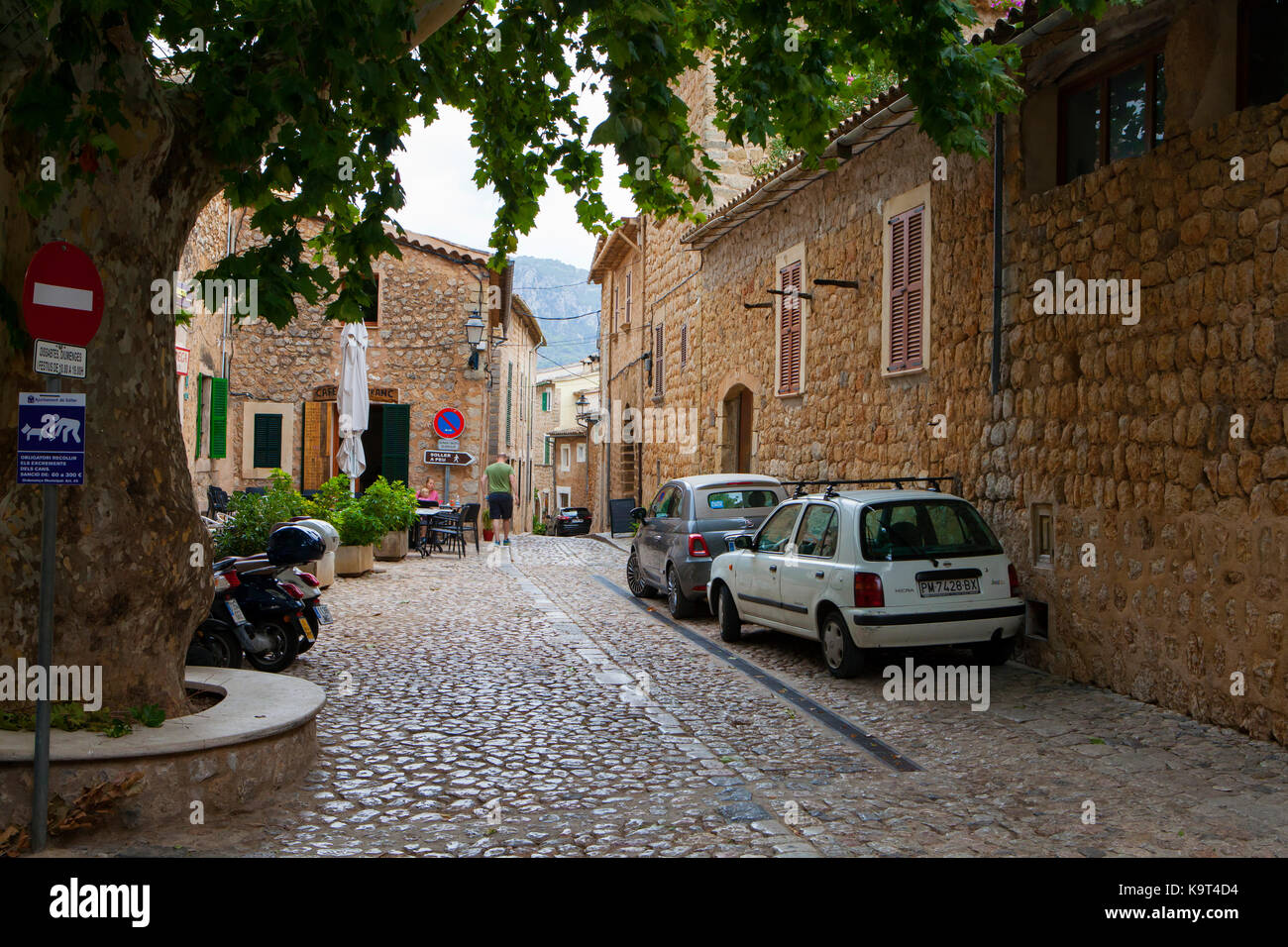 Traditional small town of Biniaraix in Spain, Majorca in September 2017 - Stock Image