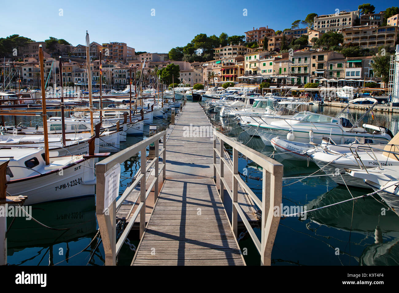 Port de Soler, Majorca, Spain in September 2017 Stock Photo