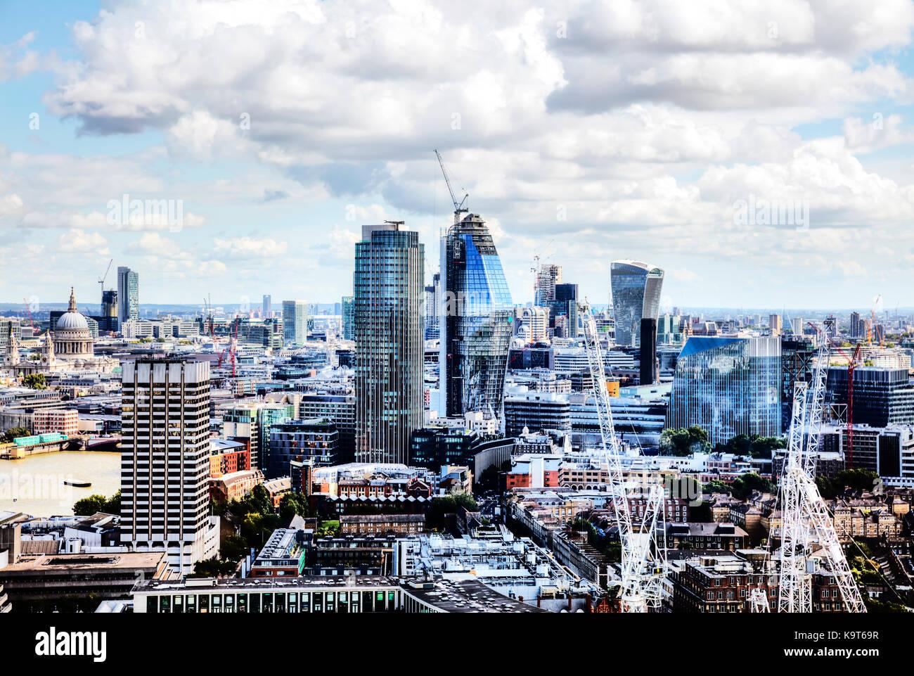 City of London square mile, Walkie-Talkie, NatWest Tower buildings, London construction, London buildings, London - Stock Image