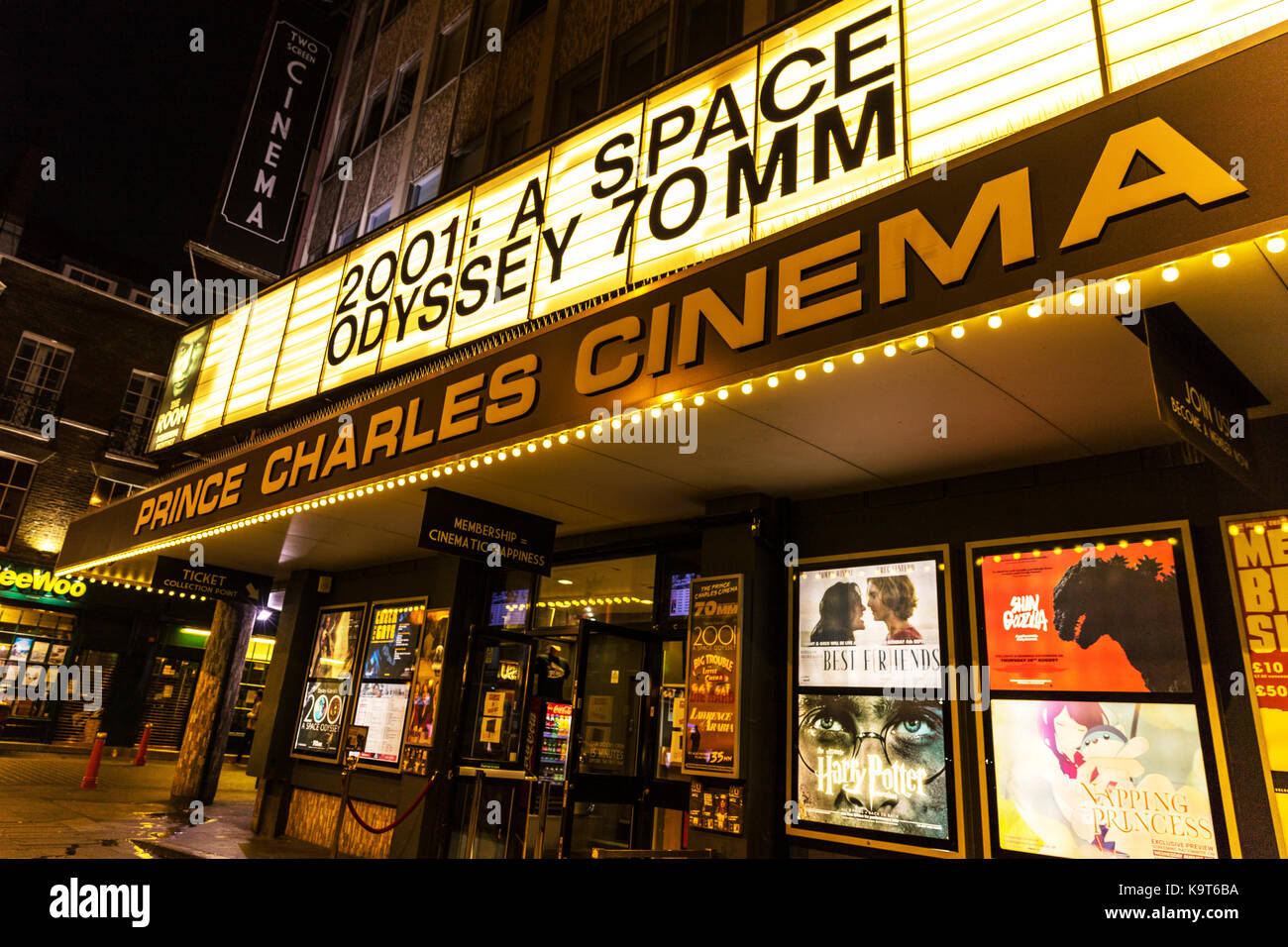 prince Charles cinema china town leicester square london uk, prince charles cinema, china town, leicester square, - Stock Image