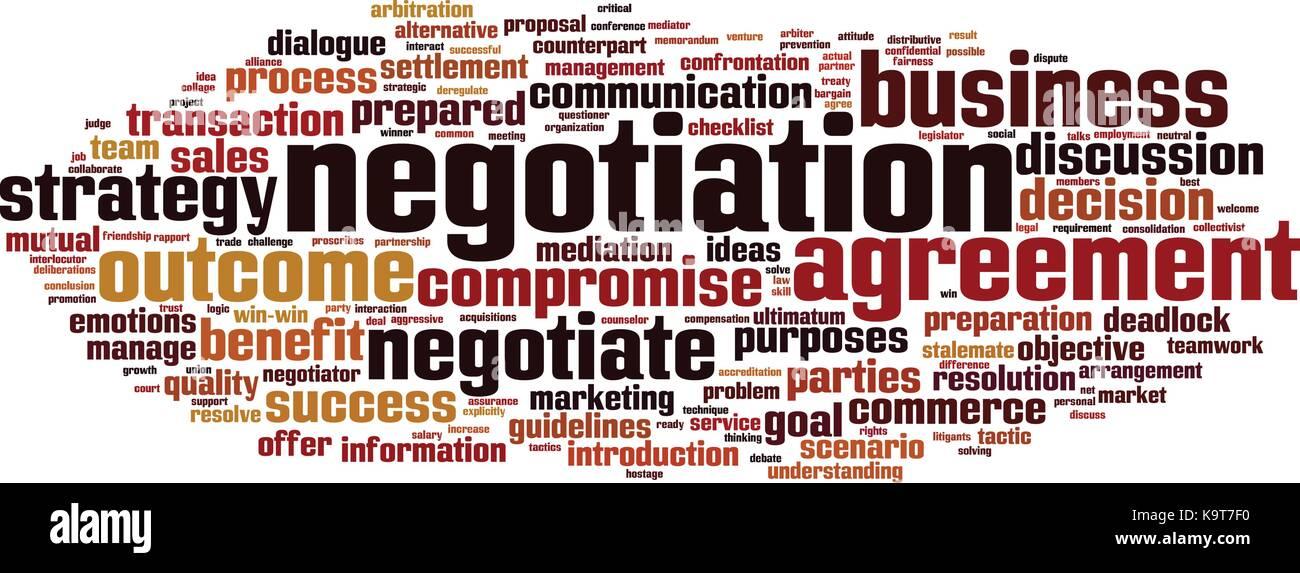 Negotiation word cloud concept. Vector illustration - Stock Vector