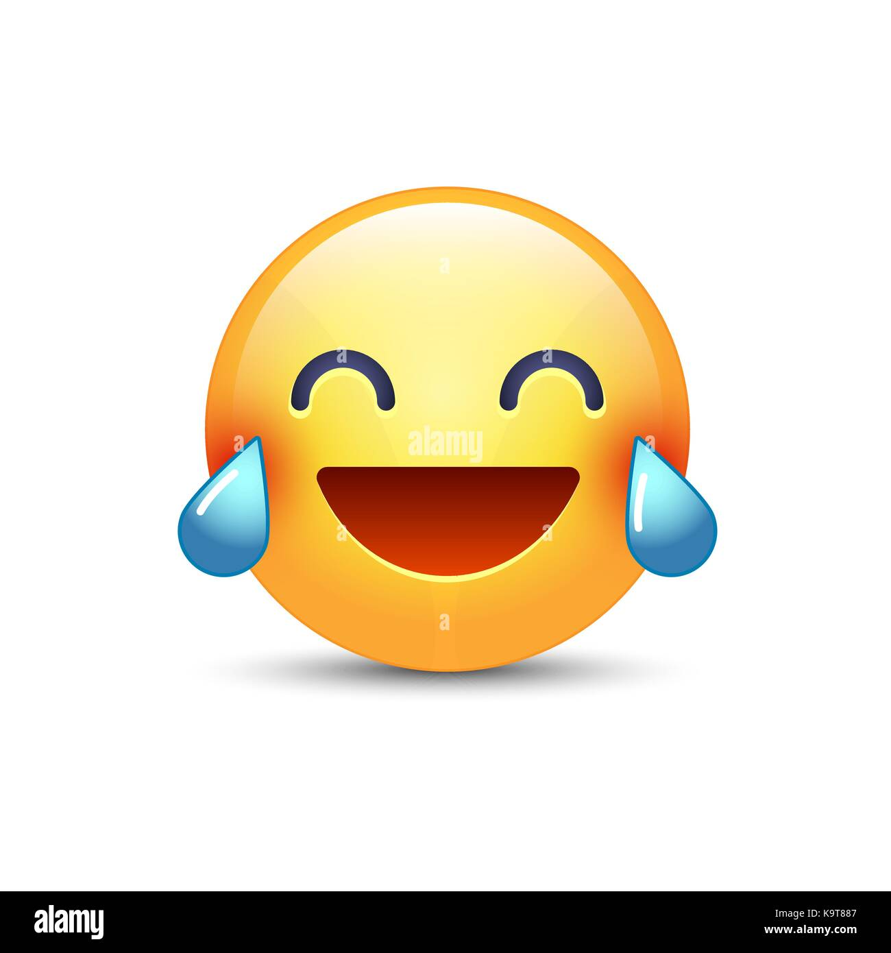 Laughing Smiley With Tears Of Joy Happy Cartoon Emoticon Emoji Face Laugh And Crying