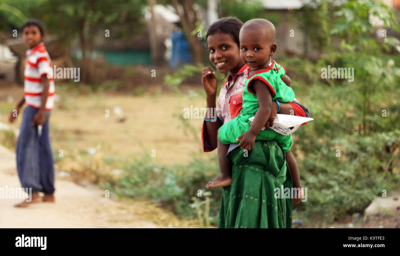 Portrait of happy kids outdoor looking at camera Stock Photo