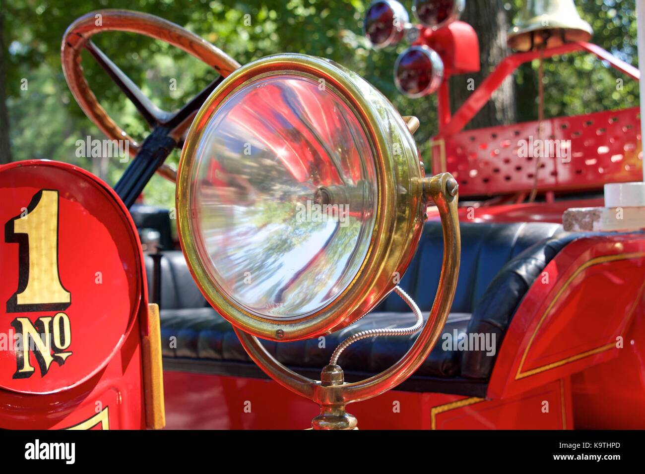 Detail Of A Brass Lamp From An Antique 1921 REO Boyer Fire Engine Really  Showcase The