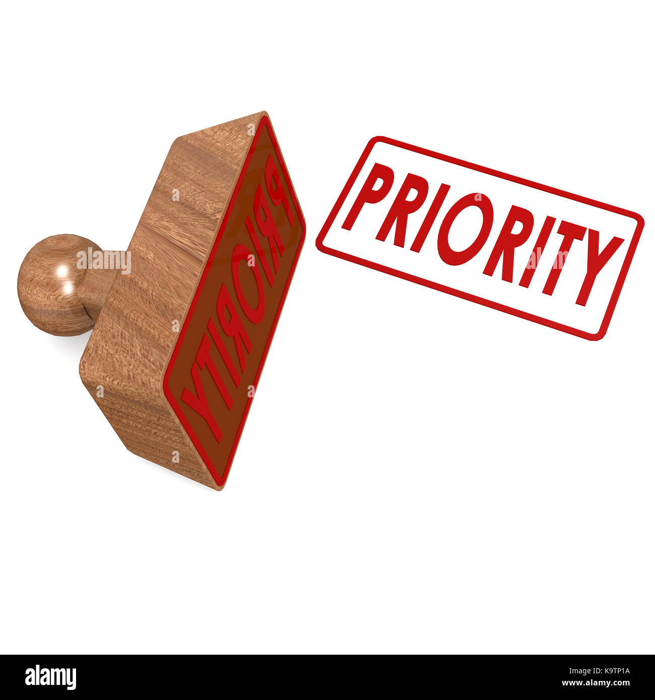 Priority stamp - Stock Image