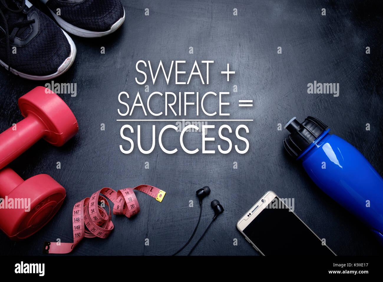 Sweat Sacrifice Success Health Fitness Motivational Quotes