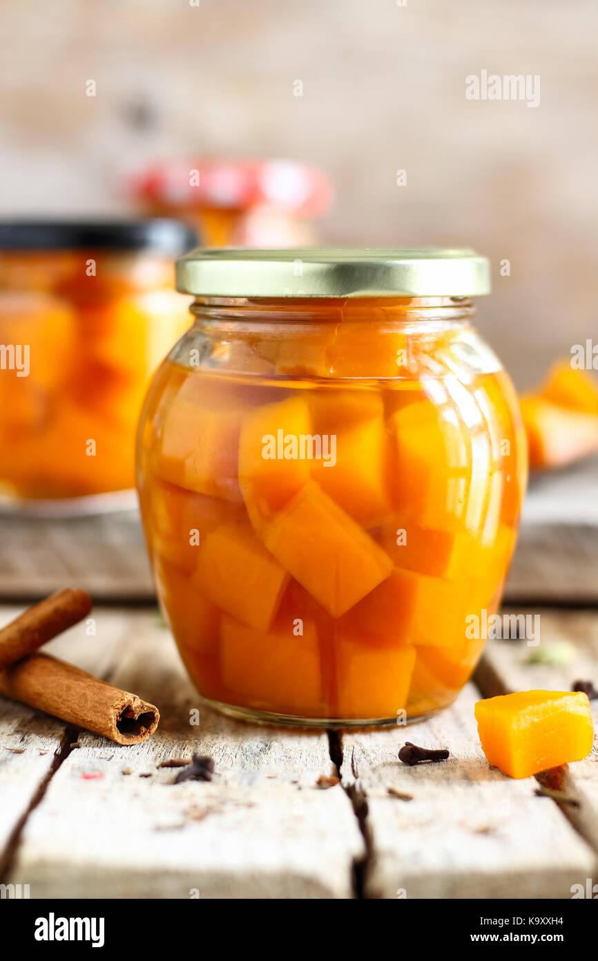 Pickled Pumpkin - Stock Image