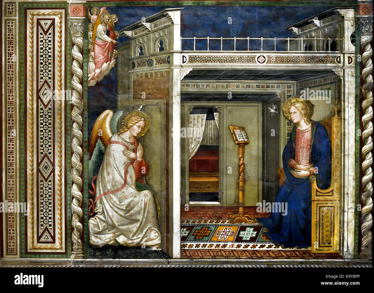 The Annunciation - Santa Maria Novella 1221 Church and Cloisters Principal Dominican church Florence Italy - Stock Image