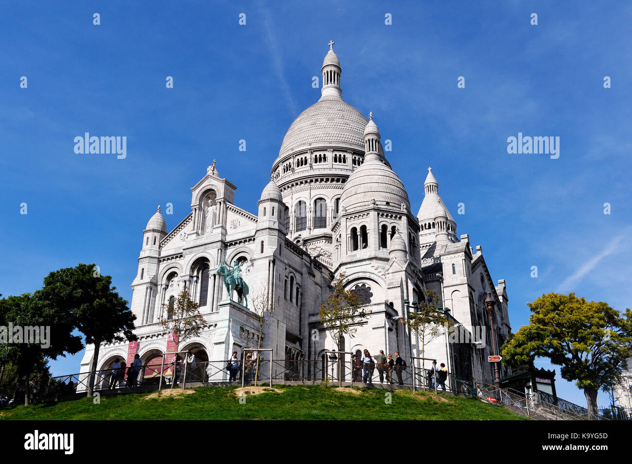 View from Montmartre, Paris 18th, france Stock Photo