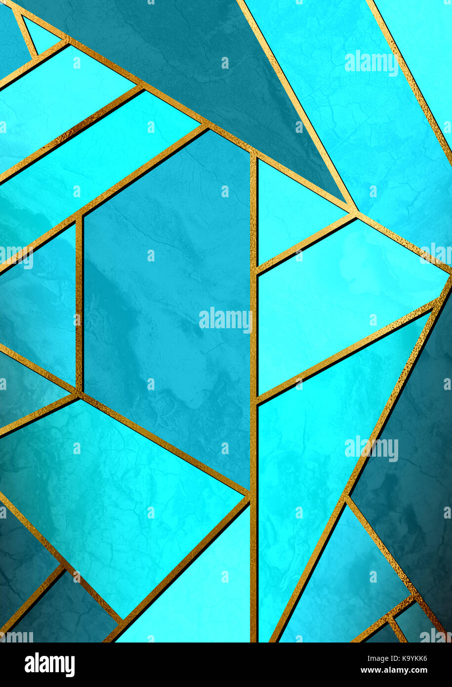 Modern And Stylish Abstract Design Poster With Golden