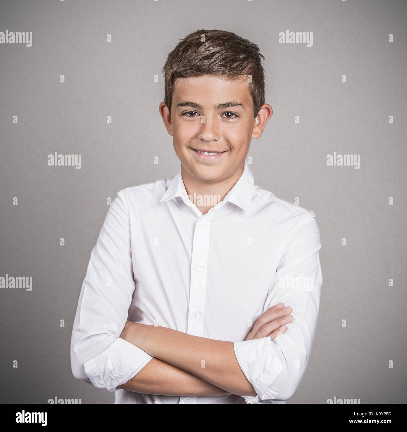 633735ba1be Closeup portrait confident handsome teenager