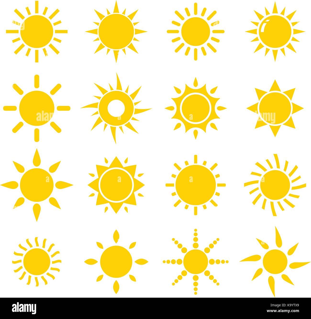 Sun Icon - Stock Vector