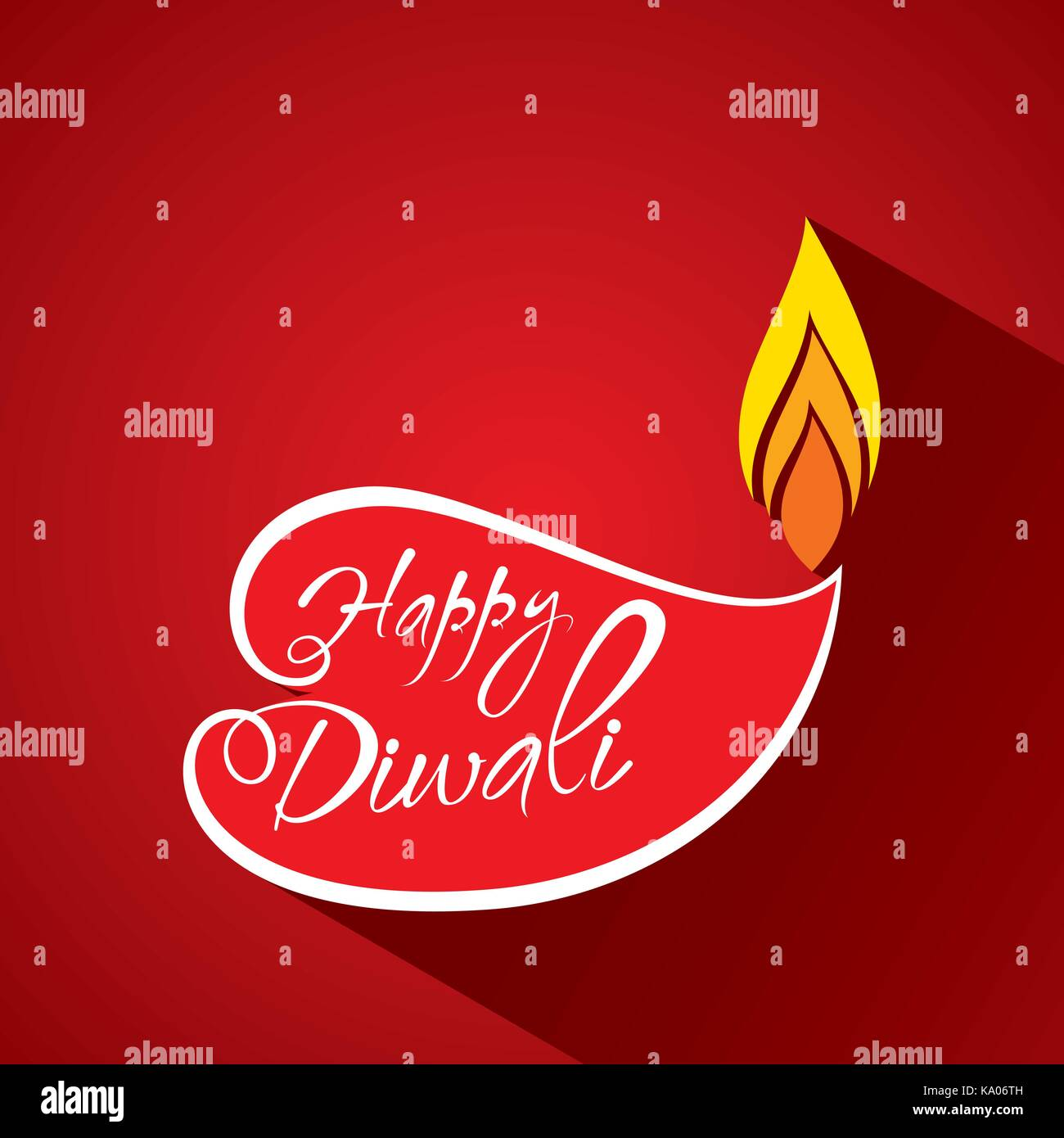 Creative Happy Diwali Festival Greeting Design With Abstract