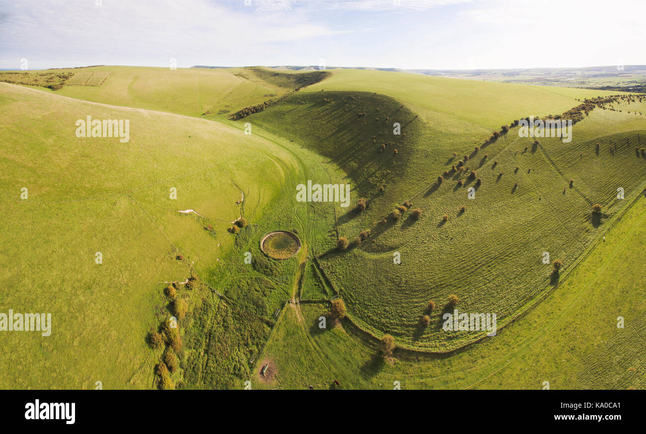 Behind Mount Caburn - Stock Image