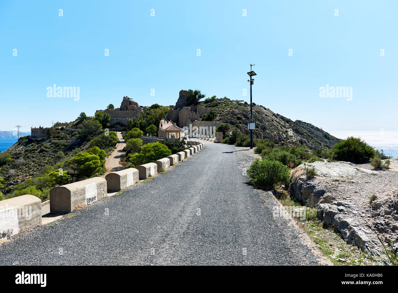 Castillitos Battery, fortifications of Cartagena, province of Murcia. Spain - Stock Image