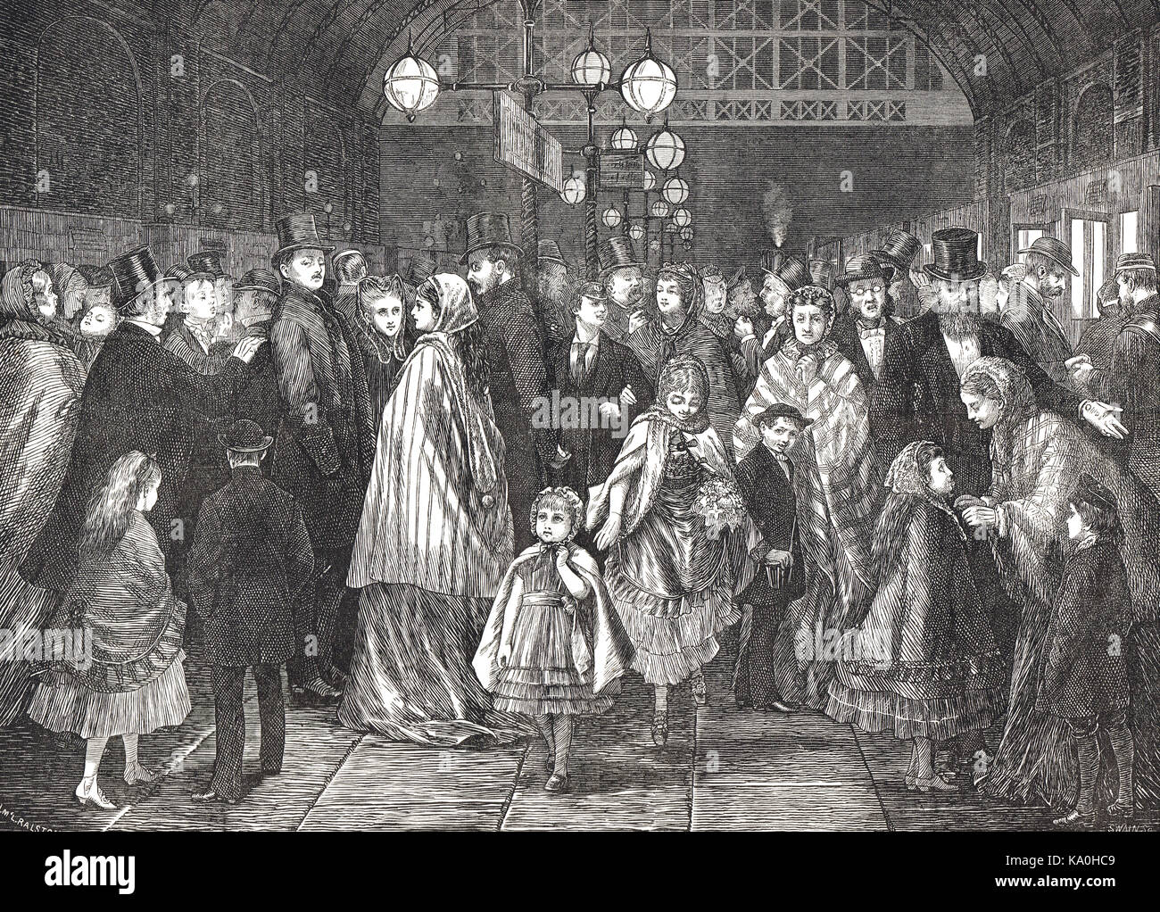 The Last train after the Pantomime, 1871 - Stock Image