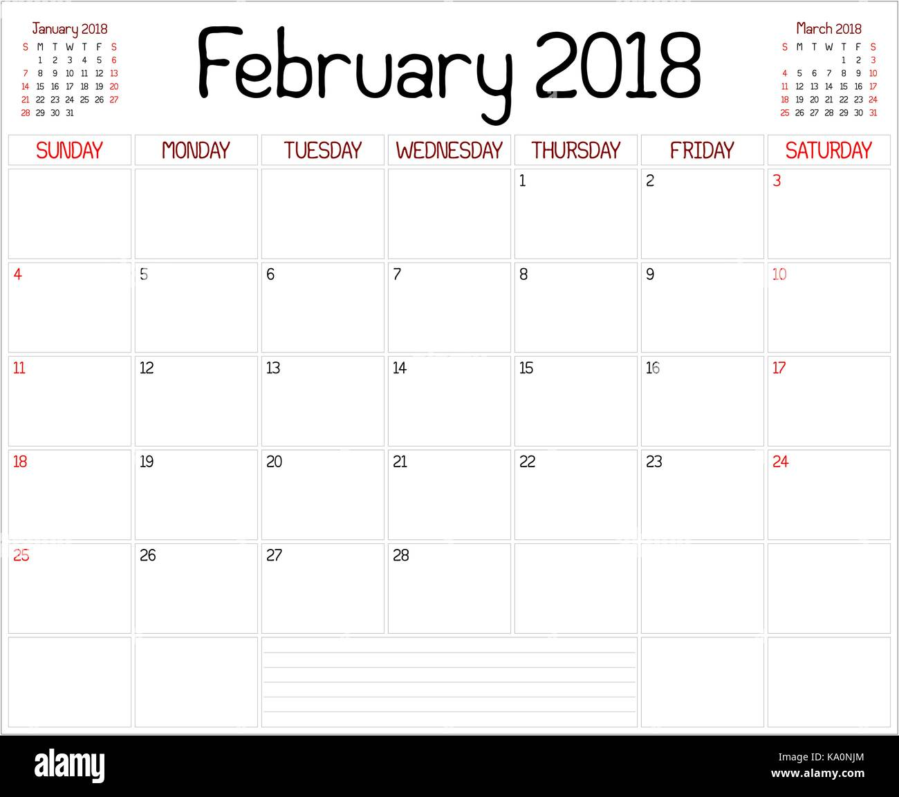 February Calendar Planner : Year february planner a monthly calendar
