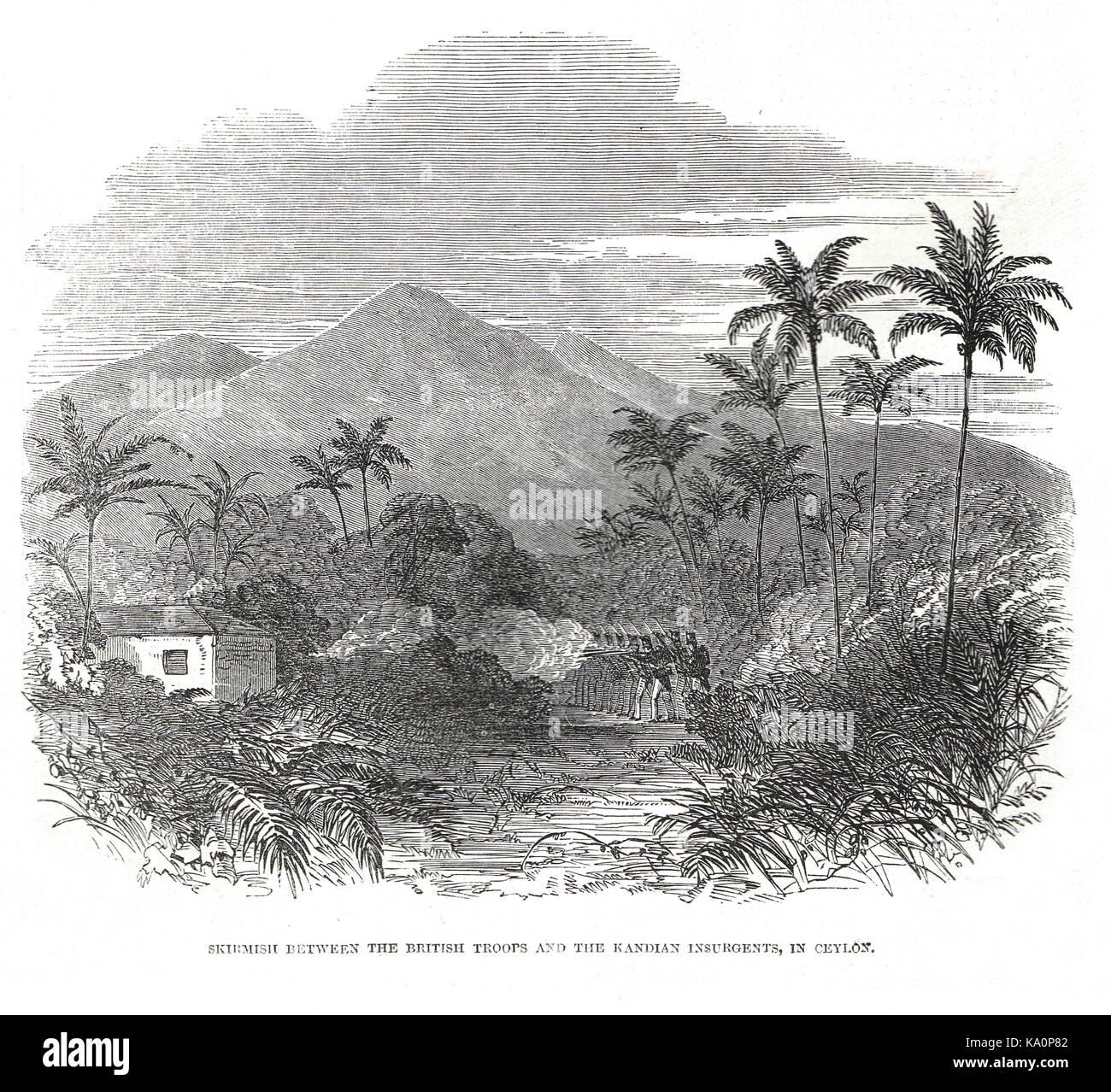 Matale rebellion in Ceylon (Present day Sri Lanka), 1848 Stock Photo