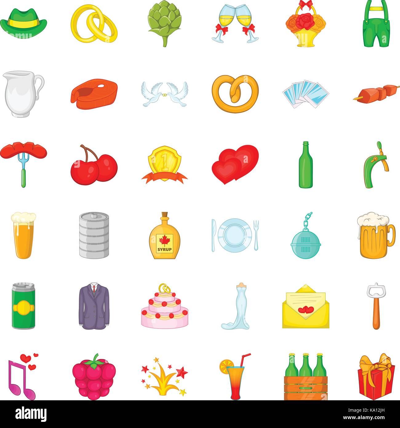 Opener icons set, cartoon style - Stock Image