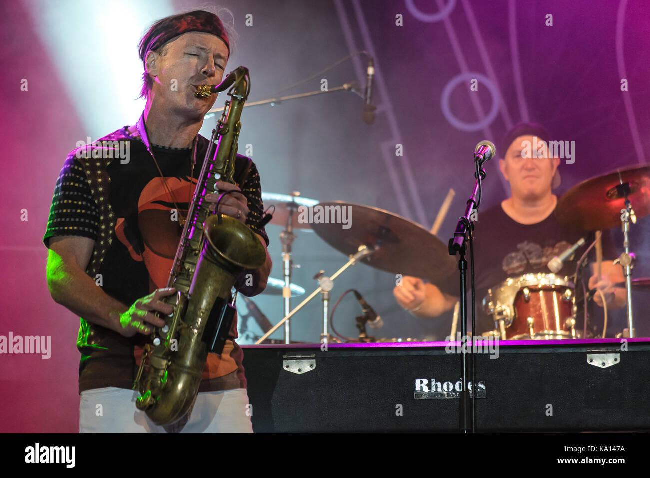 NIS, SERBIA - AUGUST 13: American jazz saxophonist Bill