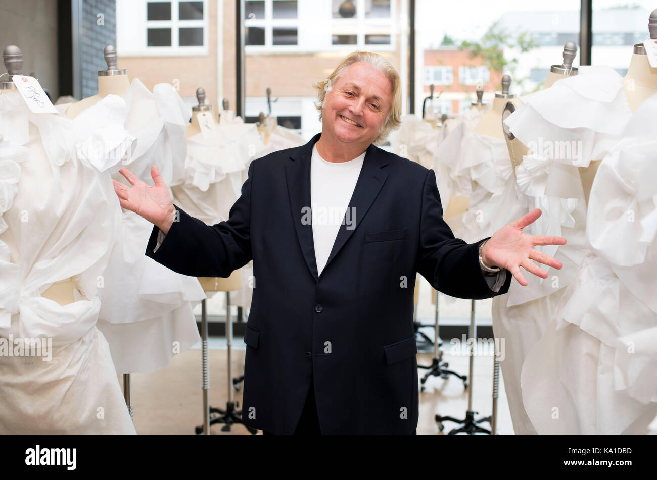 Fashion designer David Emanuel. - Stock Image