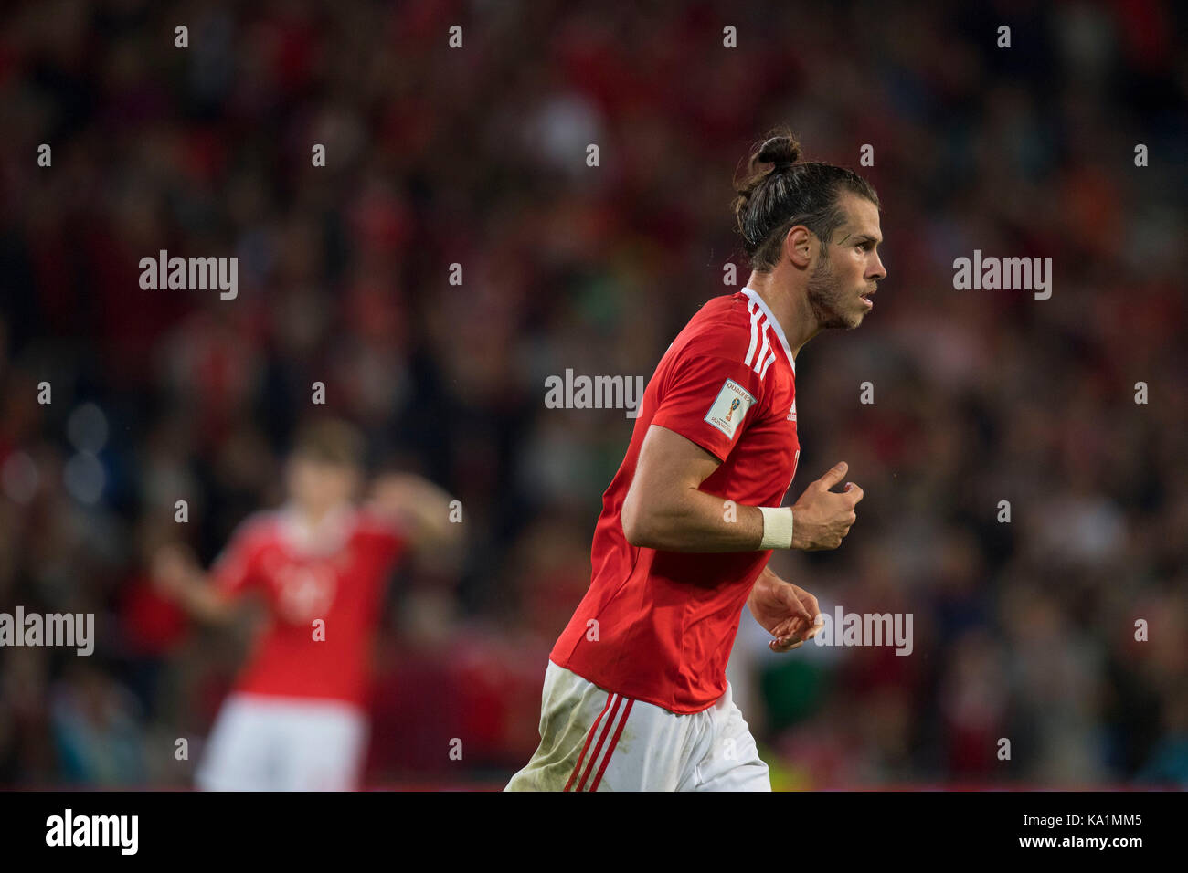 Wales v Austria Fifa World Qualifier 2018 at the Cardiff City Stadium. Picture shows Wales' Gareth Bale. - Stock Image
