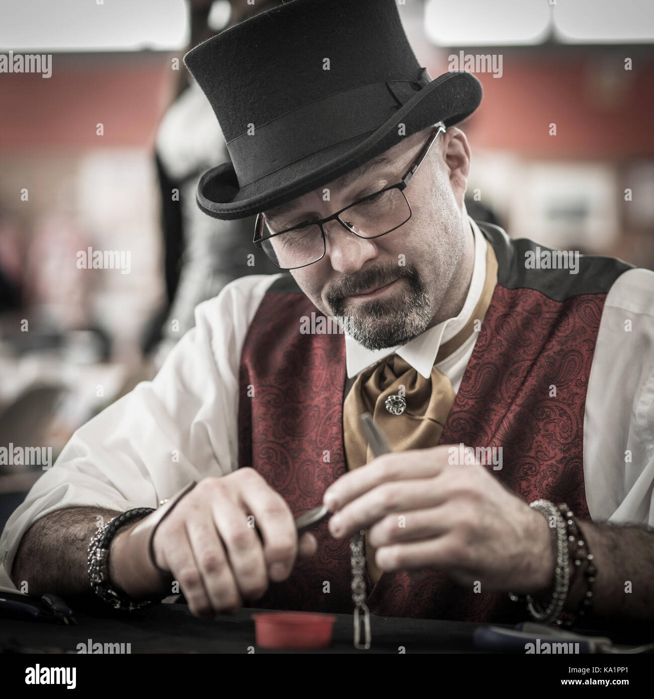 Cosplay Steampunk character - Stock Image