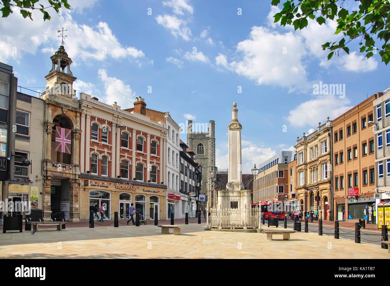 Market Place, High Street, Reading, Berkshire, England, United Kingdom - Stock Image