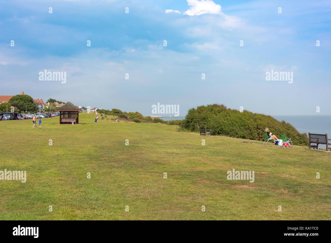 Greensward, The Esplanade, Frinton-on-Sea, Essex, England, United Kingdom - Stock Image