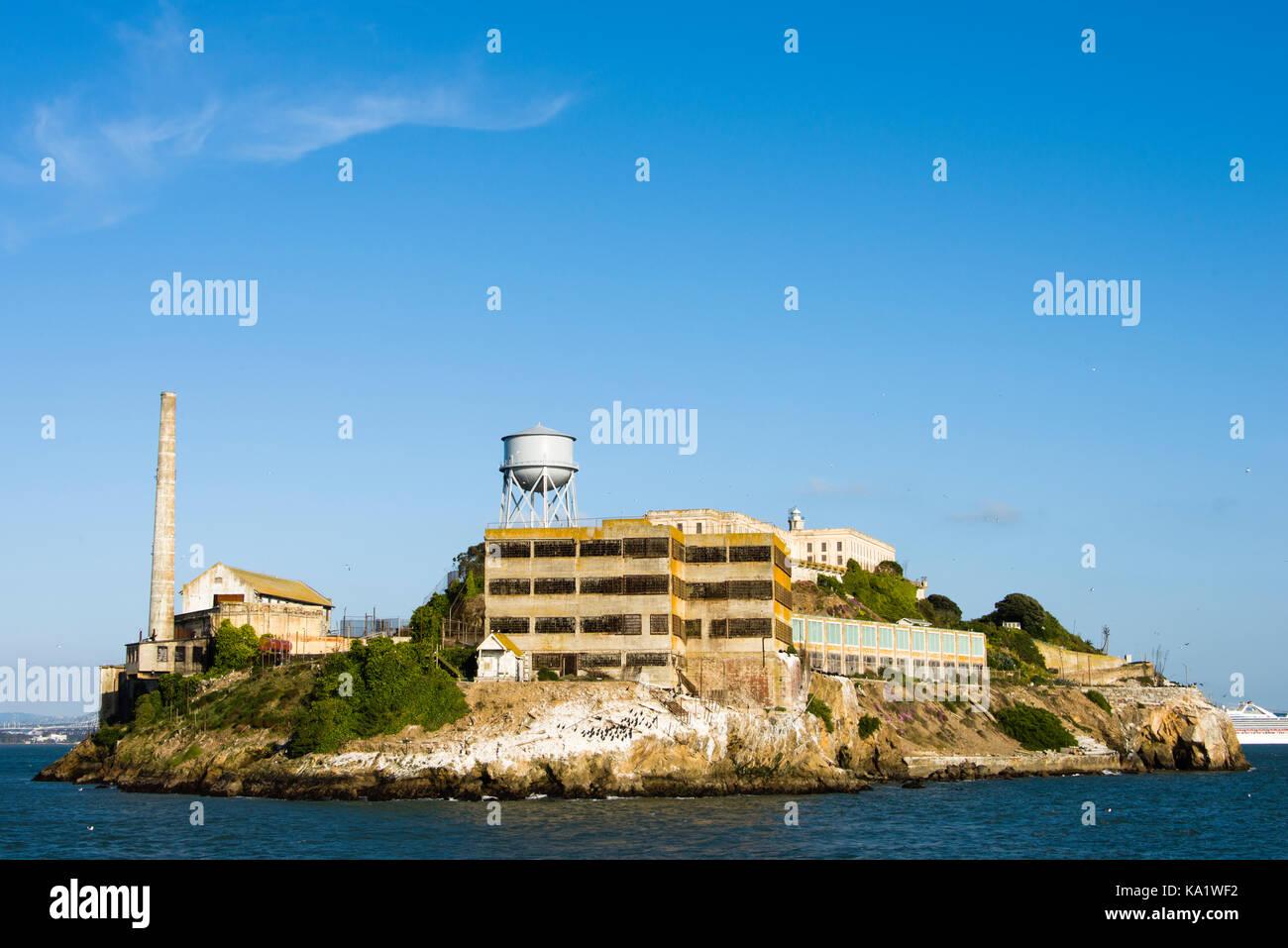 Alcatraz Island, San Francisco Bay Stock Photo