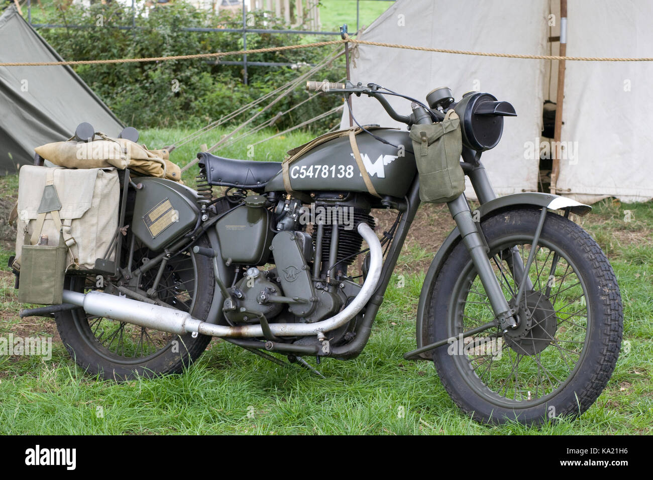 Matchless, one of the oldest marques of British motorcycles from WW11 - Stock Image