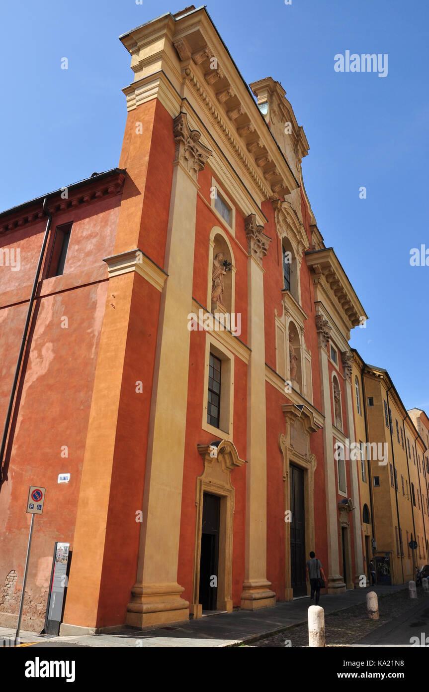 Chiesa San Bartolomeo (Saint Bartholomew), Via dei Servi, Modena, Italy - Stock Image