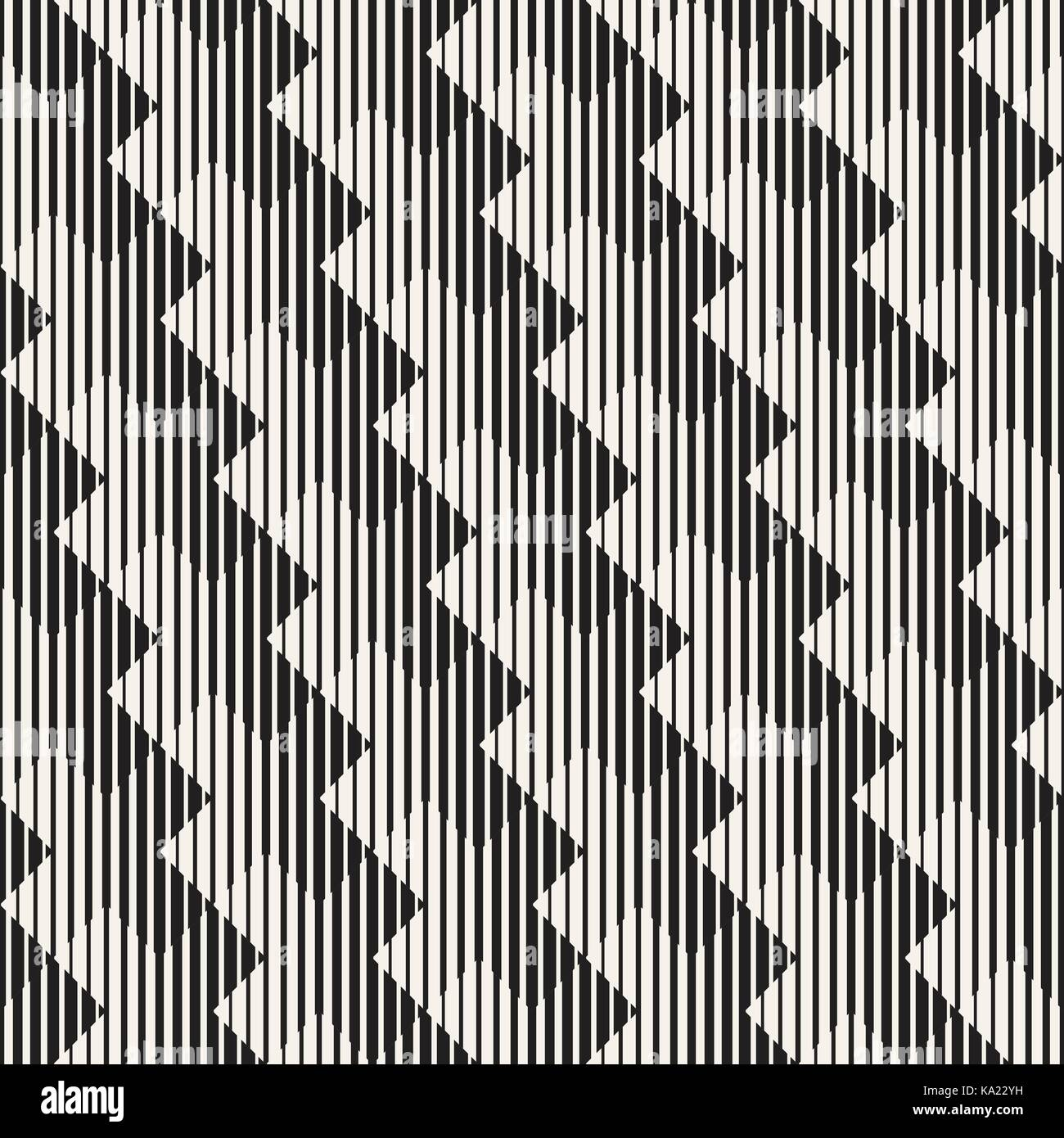 Vector seamless black and white lines pattern abstract background cross shapes geometric tiling ornament