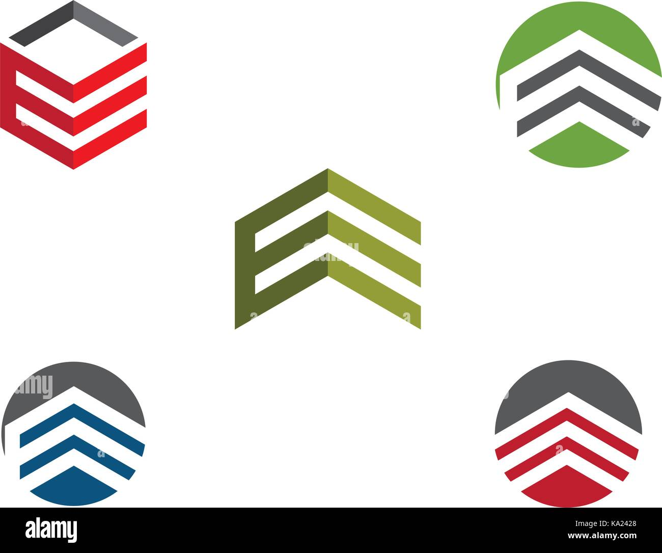 Business Finance professional logo template vector icon - Stock Image