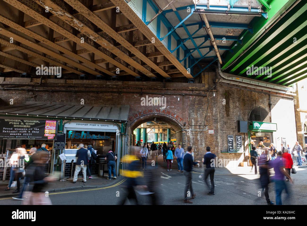 Borough Market, London, England, U.K. - Stock Image