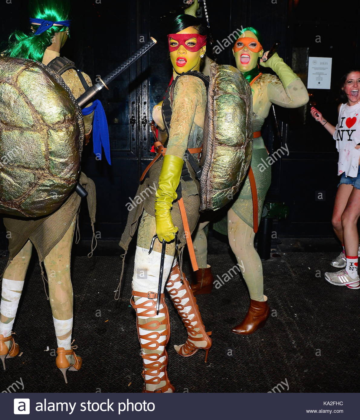rihanna. rihanna was spotted celebrating halloween in nyc with a