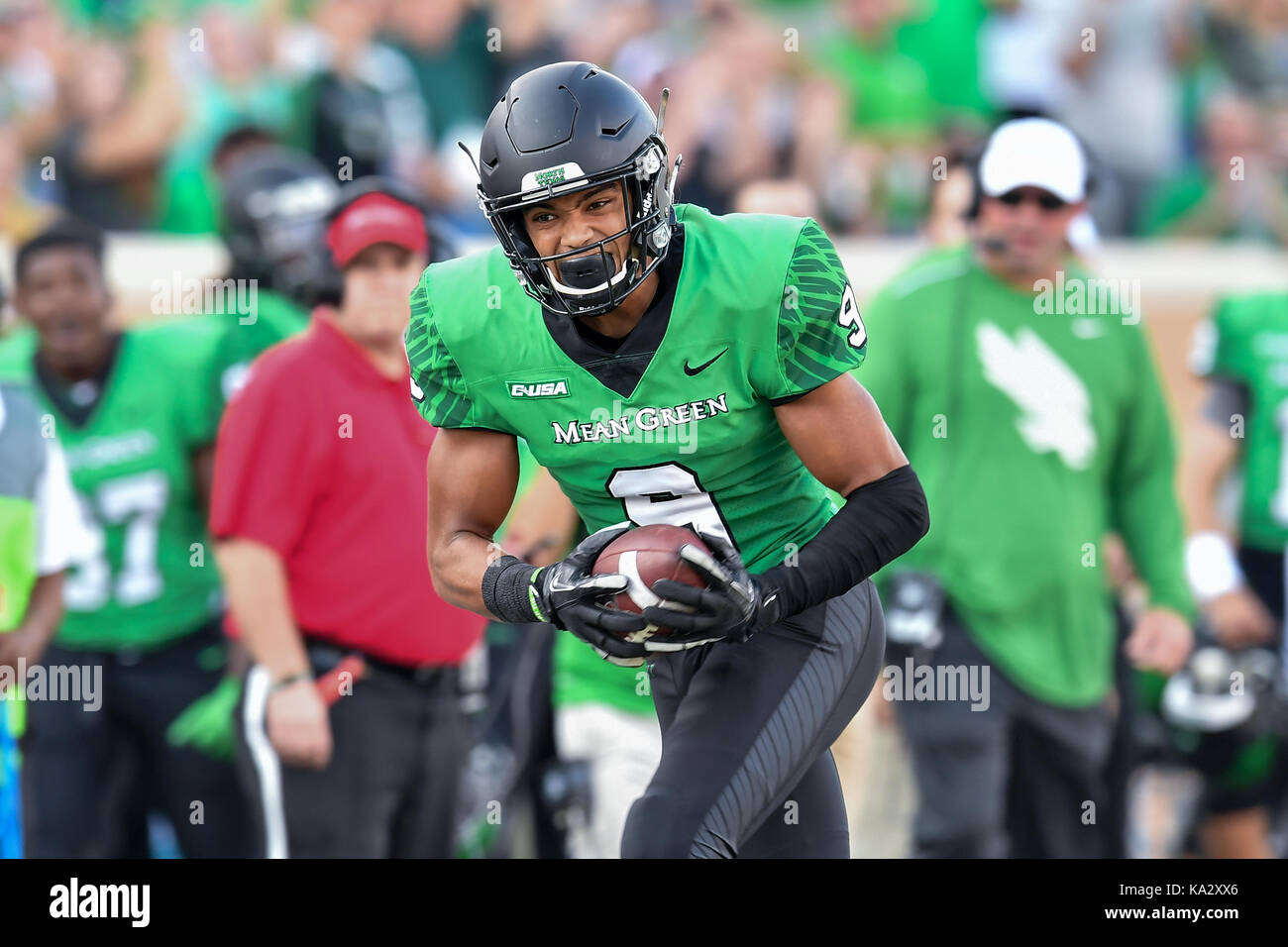 detailing 63606 d6bc0 September 23, 2017: .North Texas Mean Green wide receiver ...