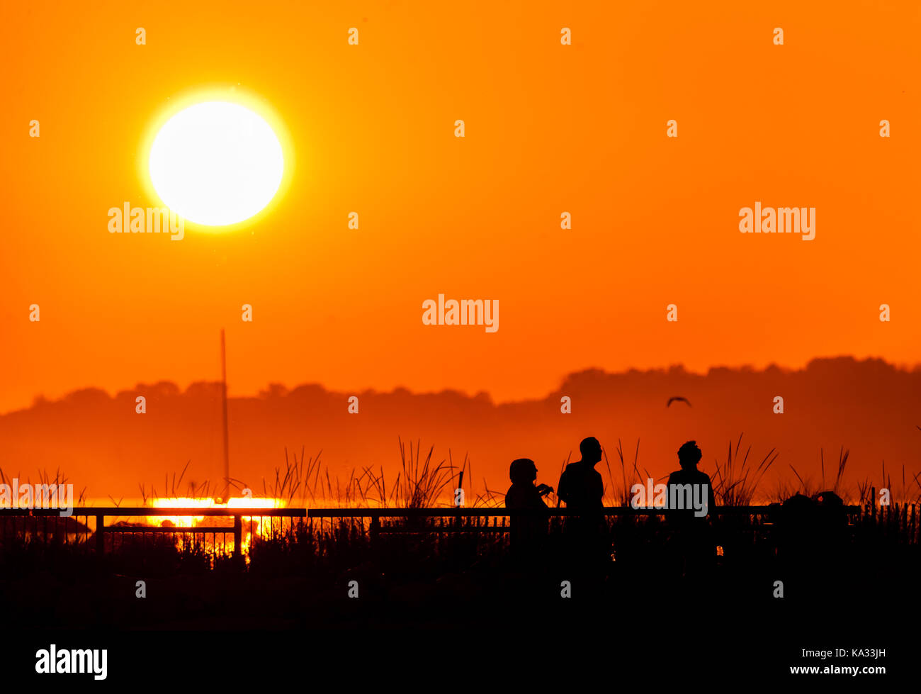 Ontario, Canada. 24th Sep, 2017. Temperatures rose above 32 C across most of Southwestern Ontario on Sept, 24, 2017 - Stock Image