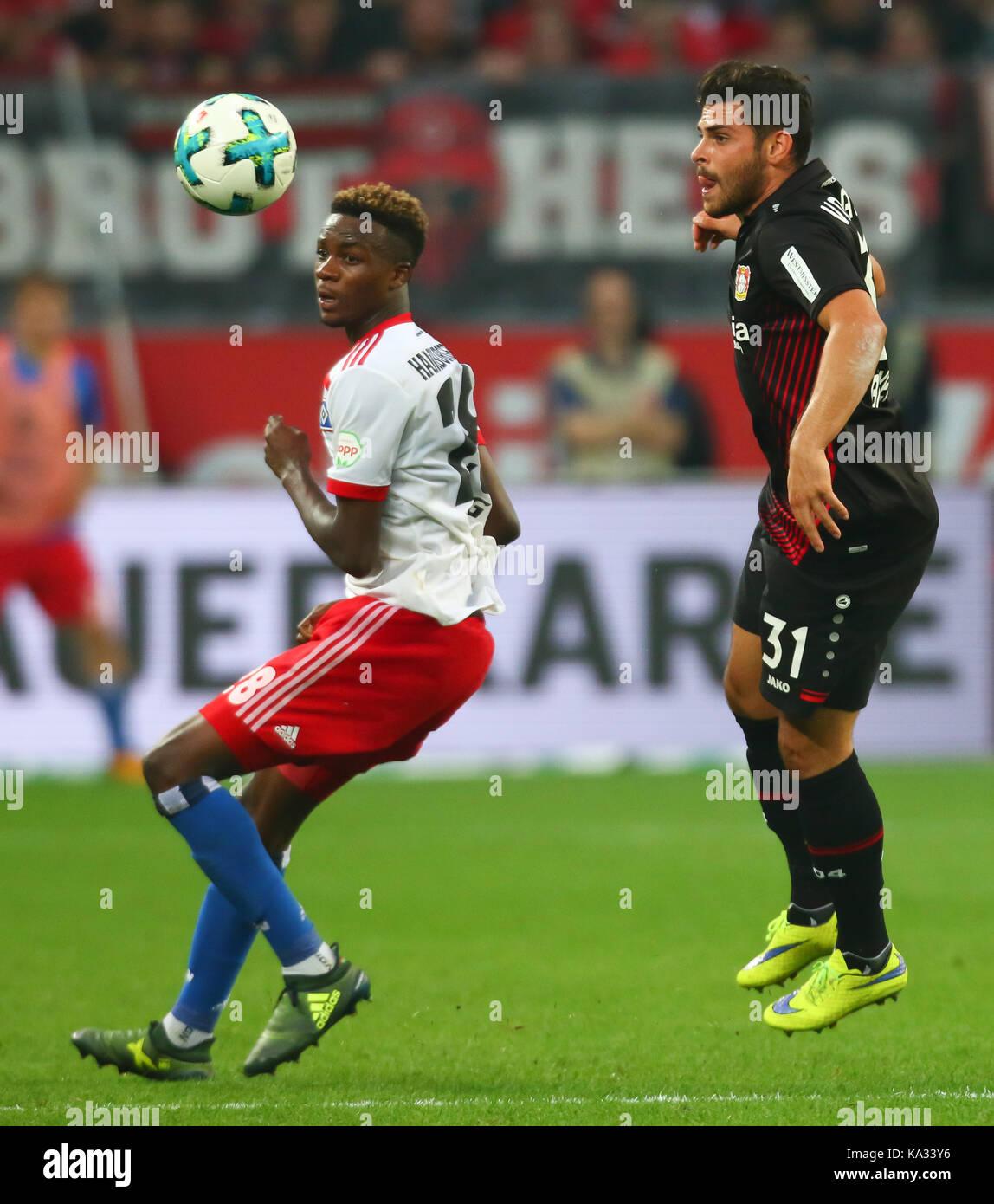 Leverkusen, Germany. 24th Sep, 2017. Leverkusen, Germany September 24, 2017, Bundesliga matchday 6, Bayer 04 Leverkusen Stock Photo