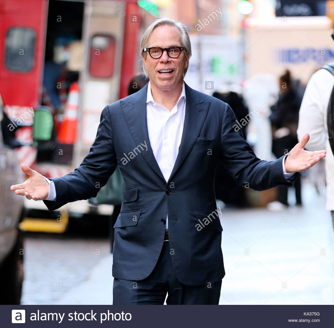 96ab8450e Tommy Hilfiger. Fashion designer Tommy Hilfiger stops by the Mercer Hotel  in SoHo on October 30, 2014 in New York City.