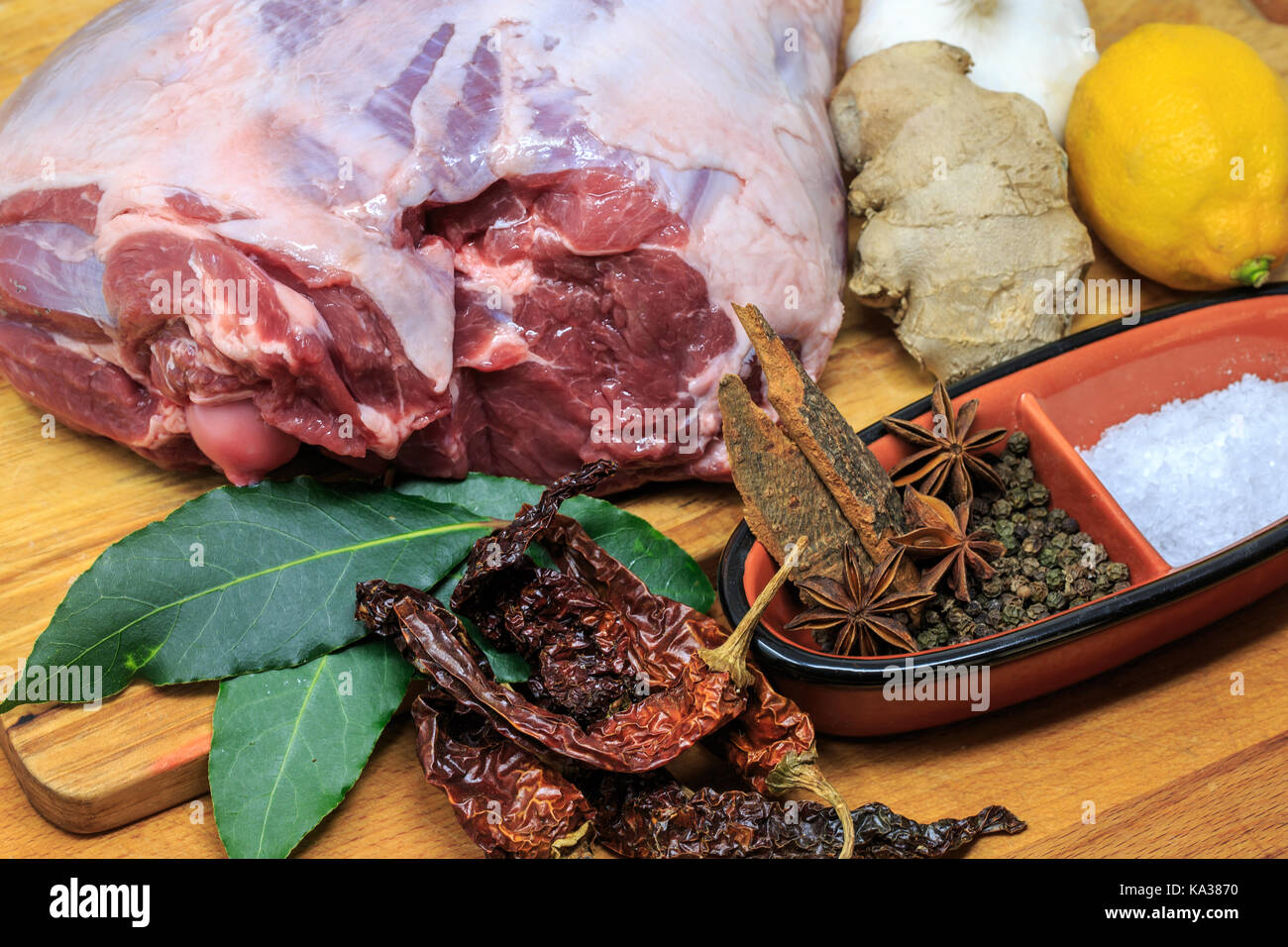 Leg of Lamb for a Sunday Roast Stock Photo