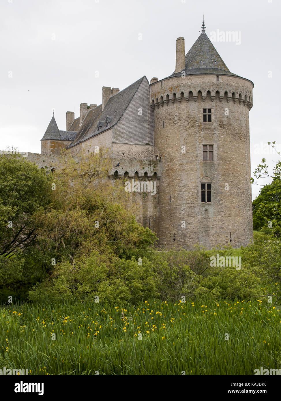 Château de Suscinio, Sarzeau, Morbihan, Brittany, France Stock Photo