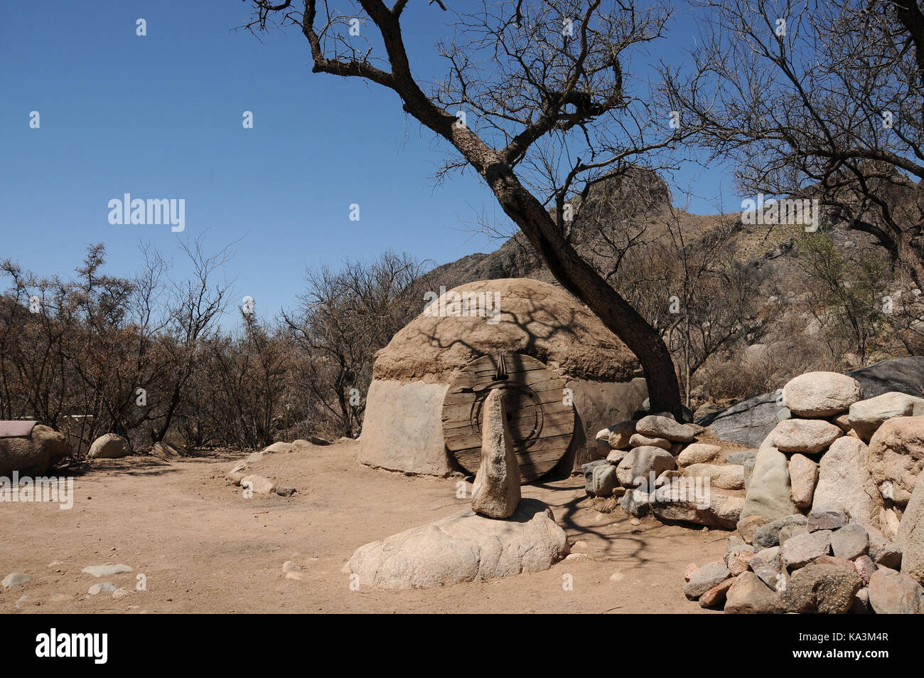 An intertribal sweat lodge site, blessed by a Navajo medicine man Dan Chee, has been used for Native American ceremonies - Stock Image