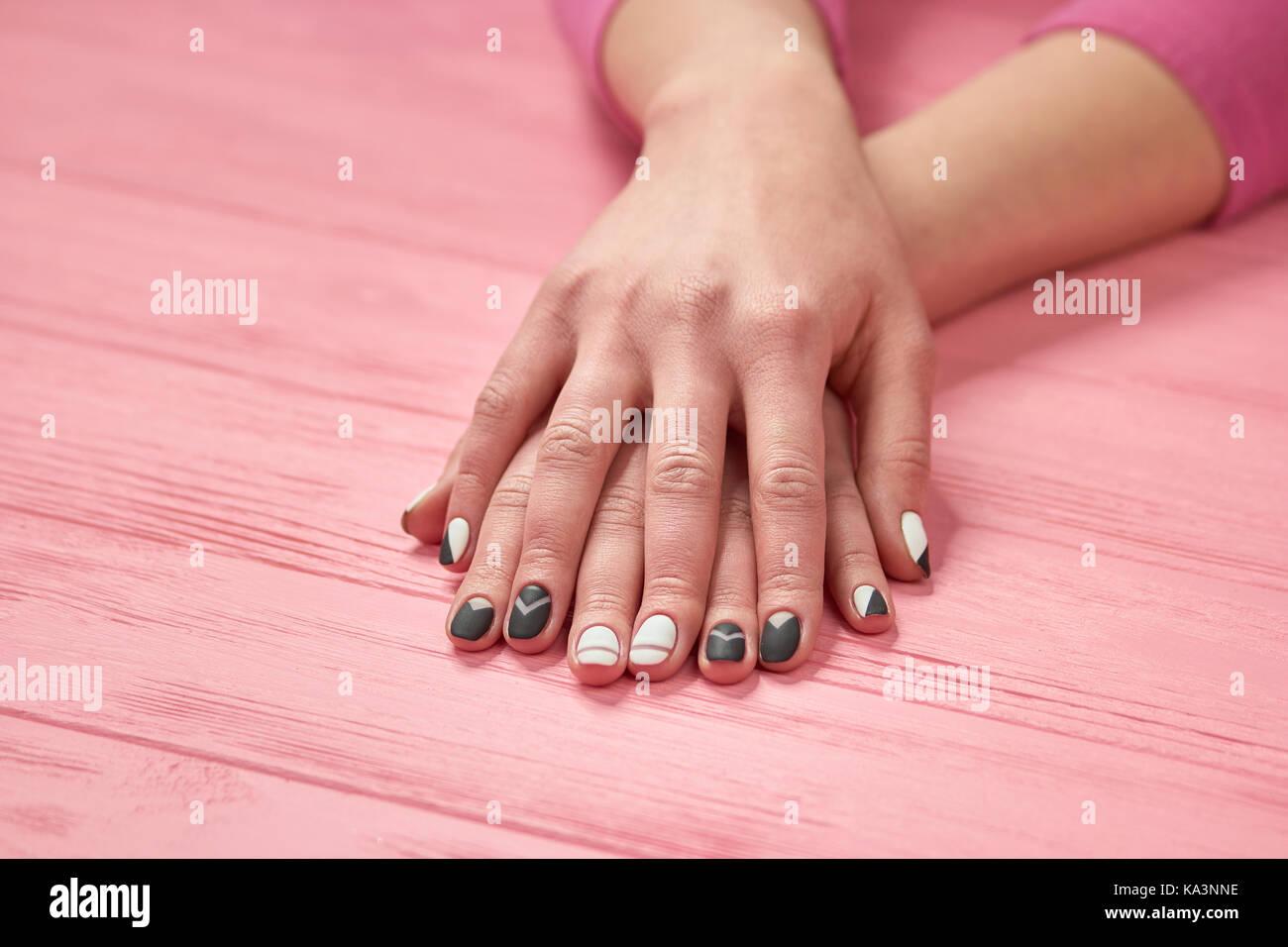 Matte Black Nails Stock Photos & Matte Black Nails Stock Images - Alamy
