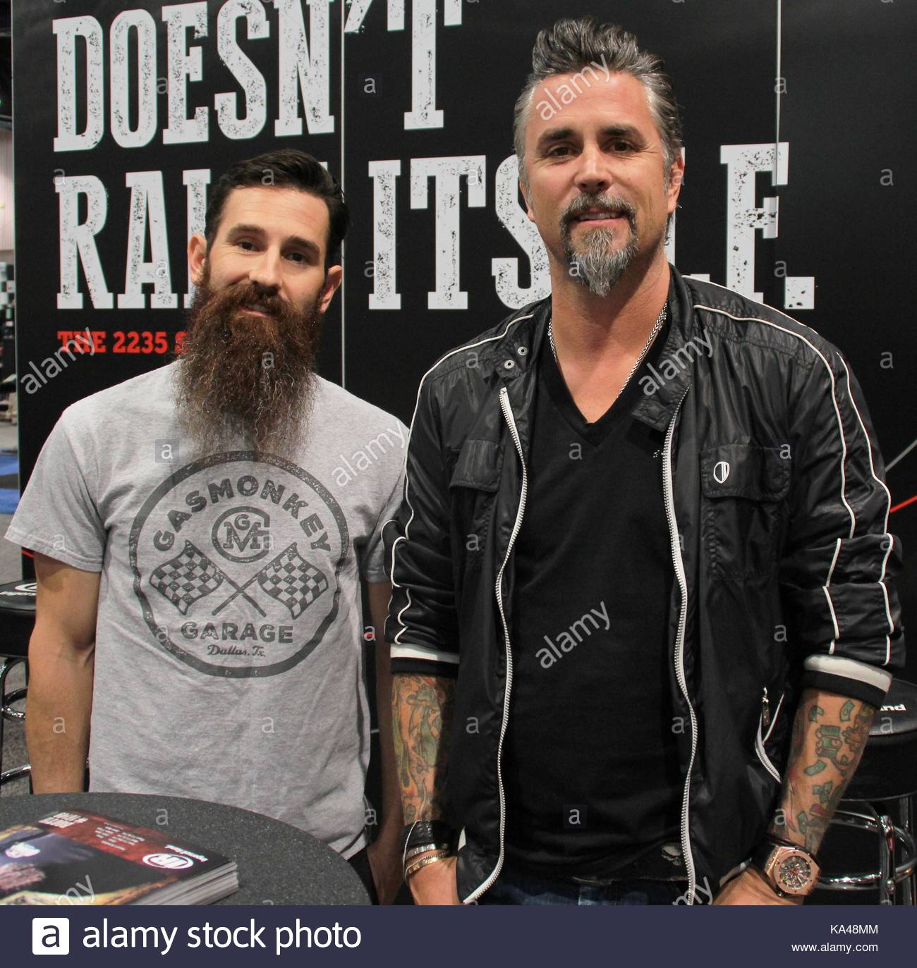 richard rawling and aaron kaufman from gas monkey garage and fast and stock photo 161134532 alamy. Black Bedroom Furniture Sets. Home Design Ideas