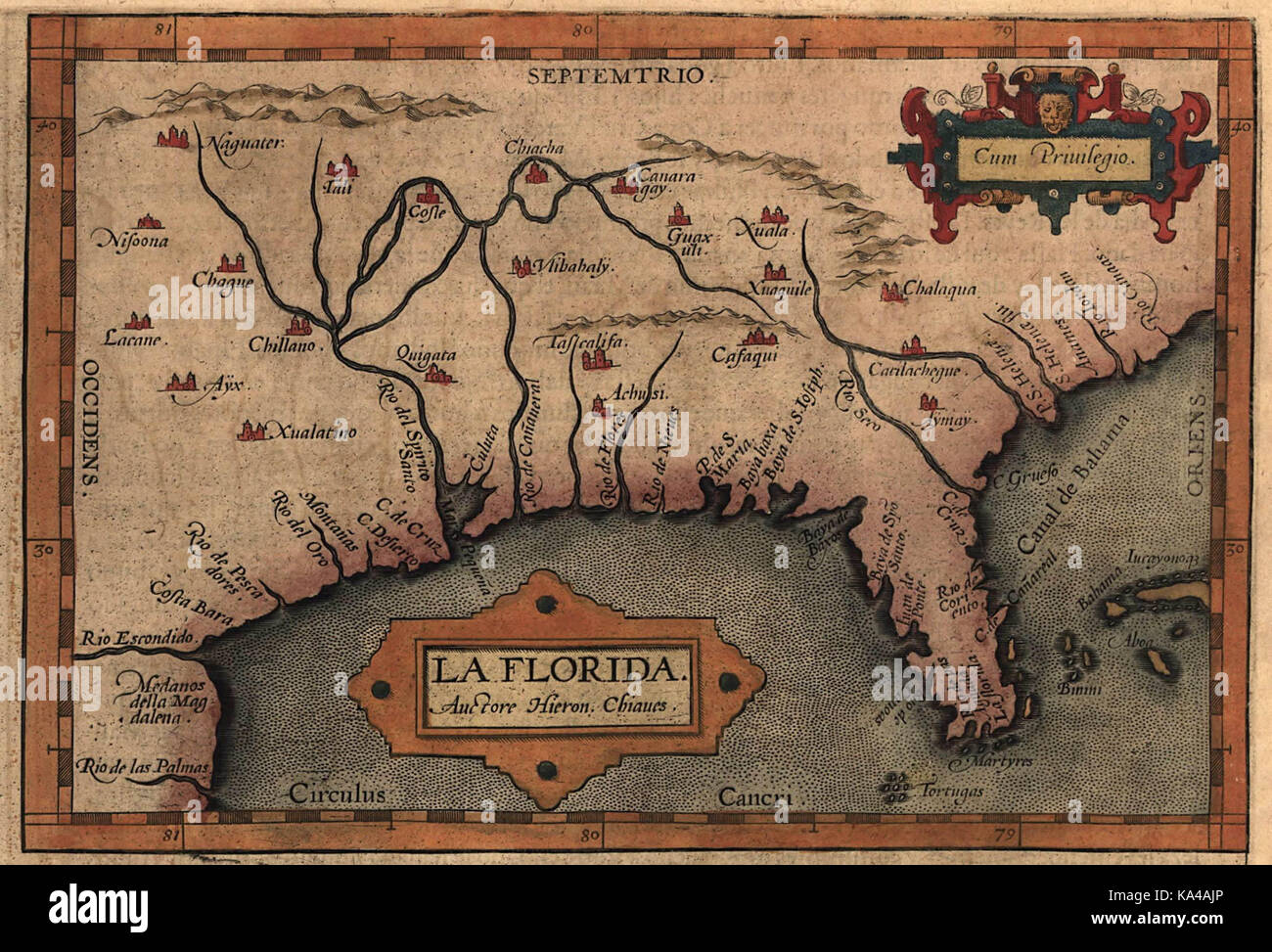 Map De Florida.Map Of Florida Likely Based On The Expeditions Of Hernando De Soto
