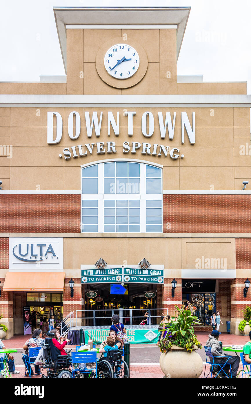 07b40e926cb Silver Spring, USA - September 16, 2017: Downtown area of city in Maryland