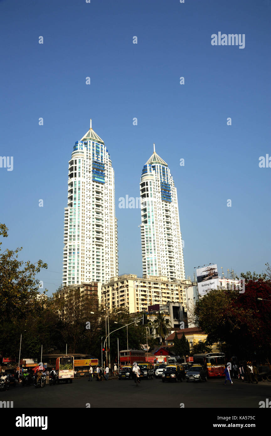 The imperial twin towers stock photos the imperial twin towers imperial towers mumbai maharashtra india asia stock image altavistaventures Images